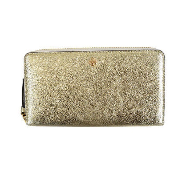 3643073032 Tory Burch Bags | Nwt Gold Crinkle Metallic Wallet | Poshmark